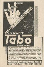 W3573 Stilografica TABO - Pubblicità 1943 - Advertising