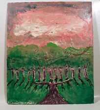 PRAISE GOD Visionary Painting SMITHSONIAN AMERICAN Folk Art Bible LEON KENNEDY