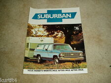 1976 Chevrolet Suburban C10 C20 K10 K20 sales brochure dealer literature