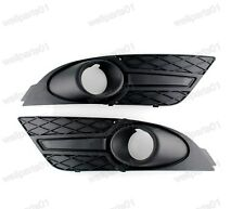 1Pair Replacement Front Bumper Fog Light Grille Covers For Ford Focus 2007 2008