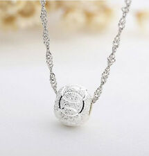 STERLING SILVER LOVE BALL INFINITY PENDANT NECKLACE