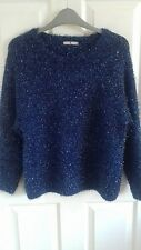 Tu ladies blue and silver sparkly jumper size 12