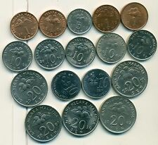 17 DIFFERENT COINS from MALAYSIA (4 DENOMINATIONS/5 TYPES/2000-2013)