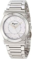 Ferragamo Men's F74MBQ9901 S099 Vega Polished Stainless Steel Silver Dial Watch