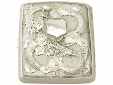 Chinese Export Silver Cigarette / Card Case - Antique Circa 1900