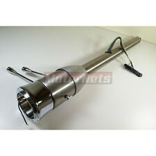 "30"" Raw Stainless Steel Tilt Steering Column Chevy Ford GM Manual Floor Shift"