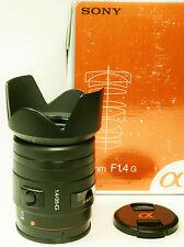 Sony 35/1,4G mit Sony / Minolta A-Bajonett Vollformat und APSC
