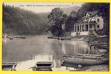 cpa 25 - VILLERS le LAC (Doubs) HÔTEL de FRANCE Débarcadère SAUT du DOUBS Barque