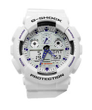 Casio GA100A-7A G Shock Analog / Digital Dial White Resin Strap Men Watch NEW