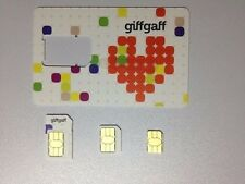 Giffgaff Micro Nano estándar de tarjeta SIM libre de £ 5 Plus compra uno obtener un free+internet