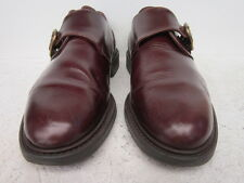 men's brown Club Room monk strap classic Norwich loafers size 9 1/2