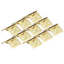 10Pcs Mini Charnière Doré 1x0.8cm Pr Meuble Tiroir Porte Armoire Placard Cabinet