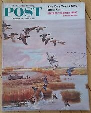 SATURDAY EVENING POST OCTOBER 26 1957 FOOTBALL HUES OF AUTUMN DEATH ON WATER