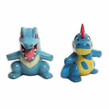"POKEMON Totodile Croconaw 1.5"" Mini PVC Figure Toy Loose 2pc Set Tomy Nintendo"