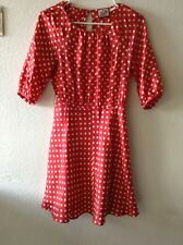 Juicy Couture Red White Polka Dot Silk Dress Size 0 XS