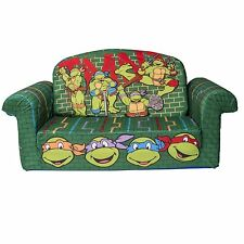 NEW Ninja Turtles PLUSH KIDS CHAIR Fold Out Padded Sofa Bed Lounge Couch Age 2-7