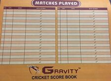 Gravity Cricket Coloured Score Book (48 Innings) + AU Stock + Free Next Day Ship