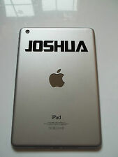1 x Personalised Name Decal - Vinyl Sticker for iPad Air Transform Font Custom