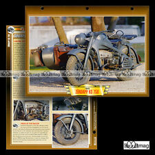 #140.05 Fiche Moto ZÜNDAPP KS 750 1940-1945 WW2 Side-Car Militaire Motorcycle