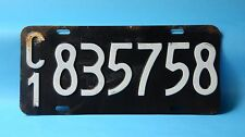 ANTIQUE CAR LICENSE PLATE FROM ARGENTINA (RA) ARGENTINA REPUBLIC
