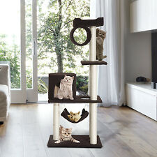"55"" Cat Tree Kitty Furniture Toys Condos Posts House Scratching Pet Supply"