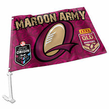 NEW 2016 State of Origin QLD Queensland Maroons CAR FLAG Man Cave Fathers Day