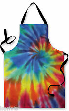 TYE DYE EFFECT APRON COLOURFUL KITCHEN BBQ COOKING PAINTING  GREAT GIFT IDEA