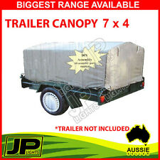1x TRAILER CANOPY CANVAS SUIT 7 X 4 TRAILER BLUE EASY FIT FRAME, DURABLE