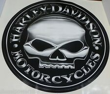 2 harley davidson motorcycle bike willie g skull trailer decal sticker big willy