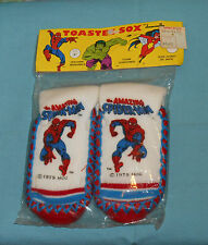 vintage THE AMAZING SPIDER-MAN TOASTEE SOX by Dawnelle slippers for kids