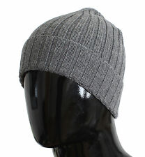 NWT $200 DOLCE & GABBANA Hat Gray Cashmere Mens Beanie Winter Head s. One Size