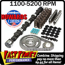 "HOWARD'S SBC Small Block Chevy 267/267 450""/450"" 111° Comp Camshaft Cam Kit"