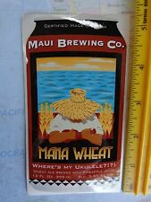 Collectible BEER Sticker  *  MAUI Brewing Co Mana Wheat ~ Where's My Ukulele?!?!