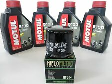 KIT TAGLIANDO 4 LITRI OLIO MOTUL 5100+FILTRO HONDA CBR 600 RR (2001 2002)