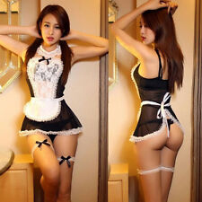 Cosplay Costume French Maid Dres Sexy Women Adult Intimate Lingerie White/Black