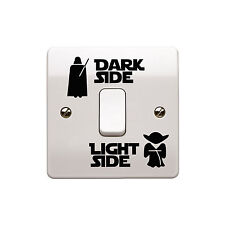 4 x Star Wars - Light Side/Dark Side Light Switch Vinyl Decal Sticker