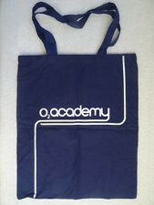 Tote bag. O2 Academy. Linen. Blue.2 Handles. Tuborg. 44cm x 36cm.Handle 52cm.New