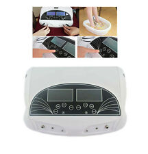 Home Dual LCD Ion Detox Ionic Foot Spa Machine Infrared Belt Relief tension