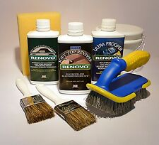 "Renovo ""DARK BLUE"" Convertible Hood Soft Top Reviver COMPLETE KIT + brushes etc."