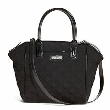 Vera Bradley Trimmed Satchel in Classic Black