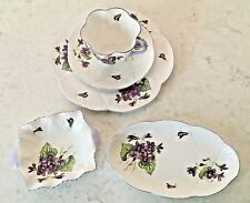 "SHELLEY Fine Bone China *VIOLETS* #13821 Cup,Saucer,8"" Plate+ 2 pieces Dainty"