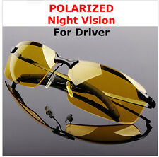 Yellow High-end Night Vision Driving Glasses Polarized UV Sunglasses New