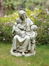VG041 Statue Jesus with Children 19 inch high  Resin Antique  Finish Figurine