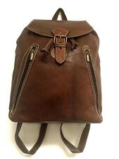 Morocco 100% Leather Brown Backpack Style Handbag Handsewn Rugged Rustic bag