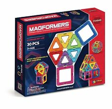Magformers Magnetic Construction Set For Brain Development - 30 Pc Standard Set
