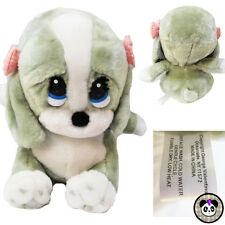 "Vtg Sad Sam Honey Plush 8"" Sound Bark Talk Dog Puppy Stuffed Toy Applause"