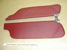 76 Cadillac Coupe DeVille GM FULL SIZE SUN VISORS MIRROR #9834643 RED/BURGUNDY