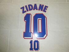 Flocage ZIDANE pour maillot équipe de France blanc 1998 patch shirt ref8/2