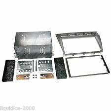 CT23KI11 FOR KIA PICANTO 2005 to 2007 SILVER DOUBLE DIN FASCIA FACIA ADAPTOR KIT
