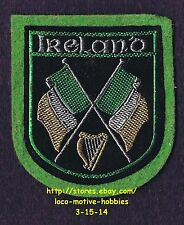 LMH PATCH Woven Felt Badge  IRELAND Eire Airlann IRISH Flags HARP Coat Arms Flag